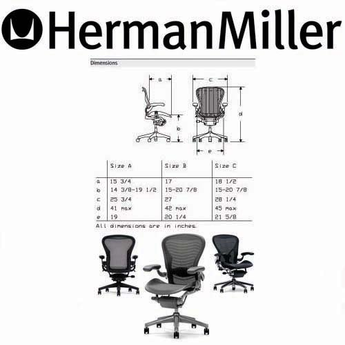 A Herman Miller Aeron Chair Large Size C Computer Comfort