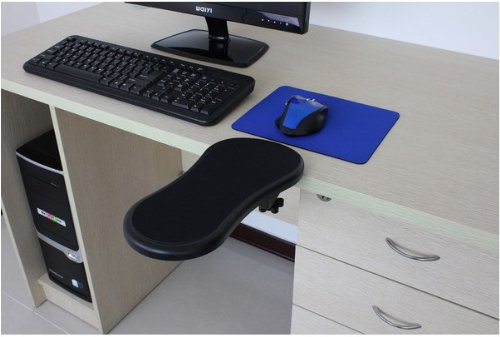 Arm Rest Extenders : Ergonomic adjustable computer desk extender arm wrist rest